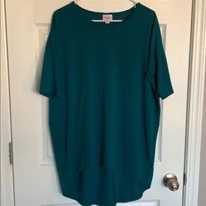 Lularoe XS dark green top
